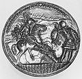 A horseman fighting two foot soldiers MET 241104.jpg