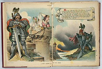 Causes of World War I - American cartoon showing territorial dispute between France and Germany over Alsace-Lorraine, 1898