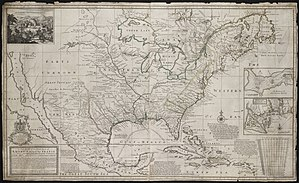 Dummer's War - A New Map of the North Parts of America claimed by France under the names of Louisiana... in 1720 drawn by Hermann Moll