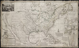 French colonization of the Americas - A new map of the north parts of America claimed by France in 1720, according to the London cartographer Herman Moll.