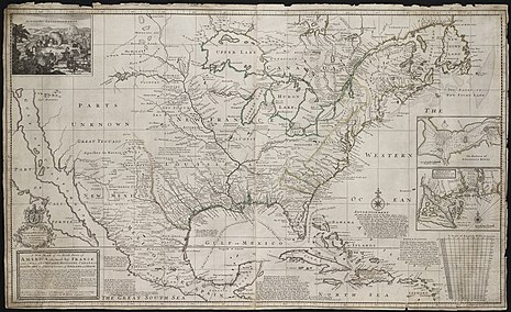 A new map of the north parts of America claimed by France under the names of Louisiana in 1720 by Herman Moll A new map of the north parts of America claimed by France under ye names of Louisiana... (2674873145).jpg
