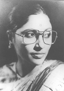 A portrait of Saoli Mitra who will be presented with the Sangeet Natak Akademi Award for Theatre - Acting (Bengali) by the President Dr. A.P.J Abdul Kalam in New Delhi on October 26, 2004.jpg