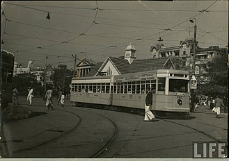 Calcutta Tramways Company - A tram in early 20th century.
