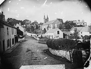 A view of Betws-yn-Rhos from the Llanfair road