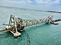 A view of Pamban Bridge and Bay of Bengal.jpg