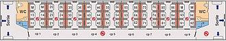 Corridor coach - Sketch of a French corridor coach (SNCF A9u)