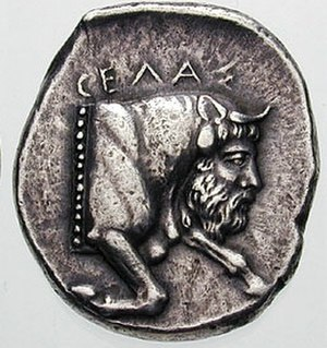 Bicha of Balazote - Sicilian coin of 420-415 B.C., depicting Achelous