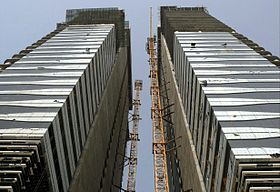 Acico Twin Towers Under Construction on 7 March 2008.jpg