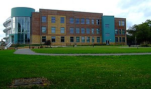 Acton High School - The front of the main building