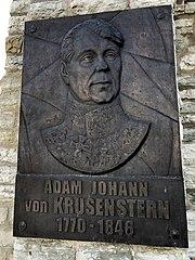Adam Johann von Krusenstern bas-relief