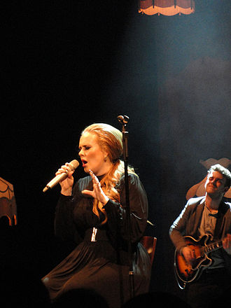 "21 (Adele album) - Adele performing ""Someone like You"" in 2011 during a concert in Seattle, Washington."