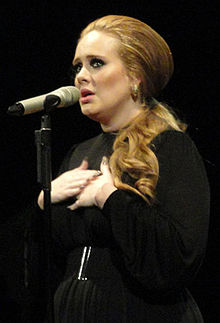 Adele interpretant «Someone Like You» el 2011