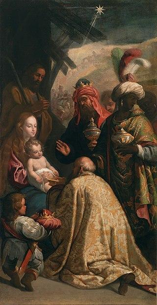 Adoración de los Reyes Magos, de Eugenio Cajés (Museo del Prado).jpg