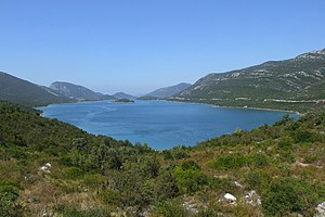 English: Adriatic Sea in Croatia - view from p...