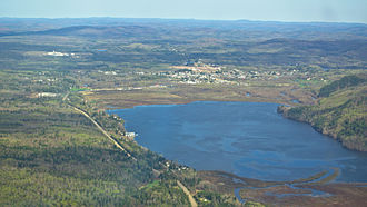 Saint-Michel-des-Saints/Lac Kaiagamac Water Aerodrome - Aerial view of St-Michel-des-Saints