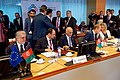 Afghan Chief Executive Abdullah and President Ghani at Afghanistan Conference in Brussels (30043373511).jpg