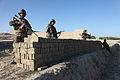 Afghan soldiers provide security during Operation Shamshir in Kharwar district's Musakhel village, Logar province, Afghanistan, Oct. 19, 2011 111019-A-ZI978-038.jpg