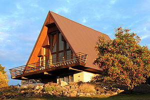 An A-Frame house in Duluth, Minnesota