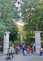 Agrykola Street gate to Łazienki Park in Warsaw, Poland, 2019, 01.jpg