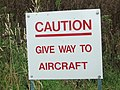 Aircraft Have The Right Of Way - geograph.org.uk - 530018.jpg