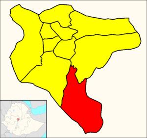 Akaky Kaliti - Image: Akaky Kaliti (Addis Ababa Map)