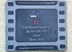 Photo of Alan Bates film cell plaque