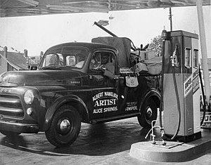 An Ampol station in Australia in the late 1940s.