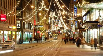 Christmas and holiday season - Holiday shopping in Helsinki, Finland