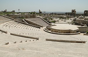 Theatre of the Citadel of Aleppo, Syria França...