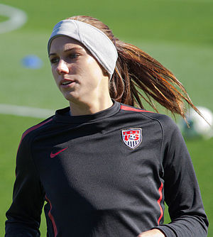 Alex Morgan - Morgan with the United States women's national team in Frisco, Texas, February 2012.