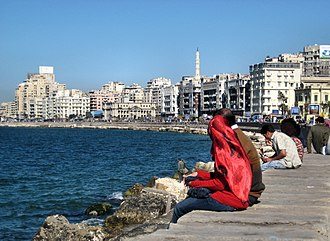City - The waterfront of Alexandria, a modern city with at least 23 centuries of history.