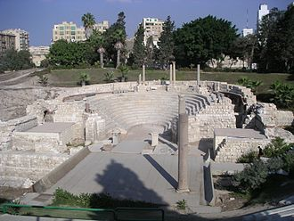 Muslim conquest of Egypt - Ancient Roman theaters in Alexandria.