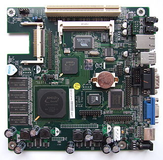 Geode (processor) - Alix.1C Mini-ITX embedded board with AMD Geode LX 800 together with Compact Flash, miniPCI and PCI slots, 44-pin IDE interface and 256 MB RAM.