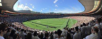 Wellington Regional Stadium - Westpac Stadium Panorama of the New Zealand v Peru - 2018 FIFA World Cup qualification (inter-confederation play-offs) 0-0 draw in front of record crowd for Football in NZ of 37,034