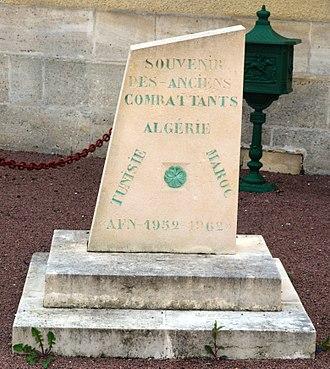 Allas-Bocage - Algerian War Memorial