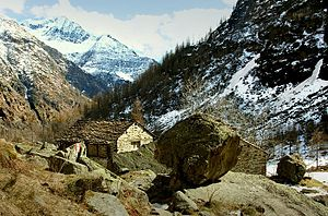 Baita (architecture) - Baite in the upper Valsesia.