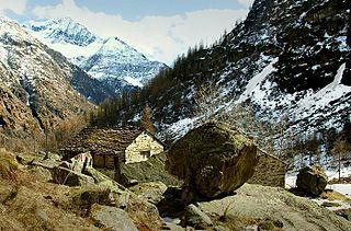 Valsesia valley in Italy