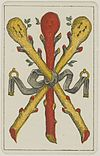 Aluette card deck - Grimaud - 1858-1890 - Three of Clubs.jpg