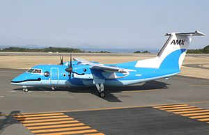 Amakusa Airlines - An Amakusa Airlines Bombardier Dash 8-103 at Amakusa Airfield, Kumamoto Prefecture, Japan. (2013)