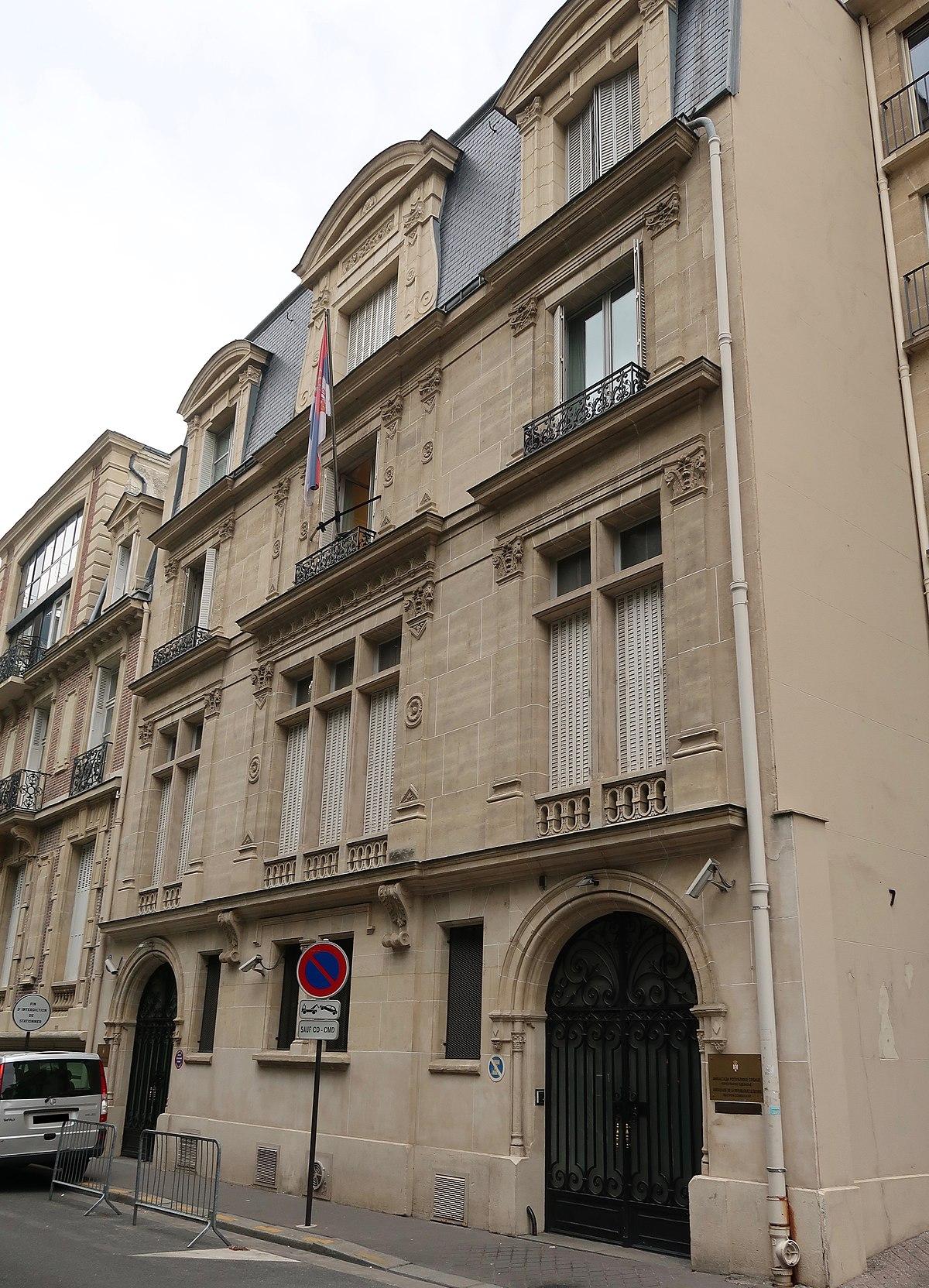 ambassade de serbie en france  u2014 wikip u00e9dia