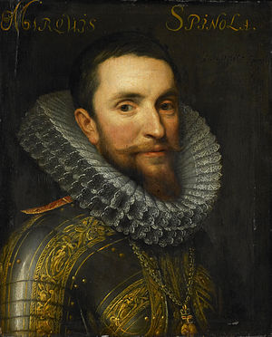 Capture of Oppenheim - Portrait of Don Ambrosio Spinola by Michiel van Mierevelt.