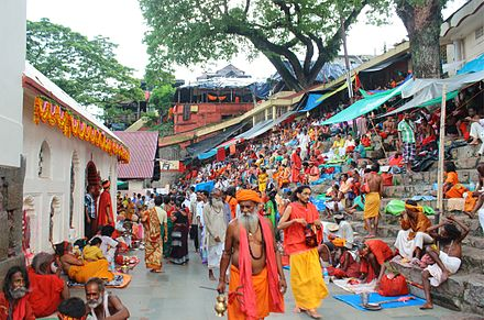 People gathered at Kamakhya Temple for the Ambubachi Mela Ambubachi Mela at Kamakhya Temple by Vikramjit Kakati.jpg
