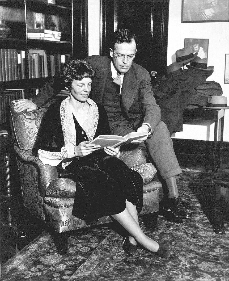 Amelia Earhart and husband George Putnam 1931