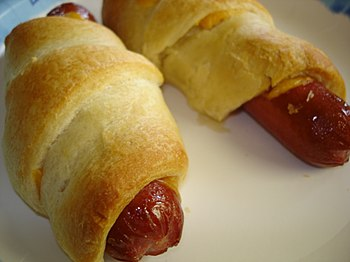 English: American-style pigs in blankets.