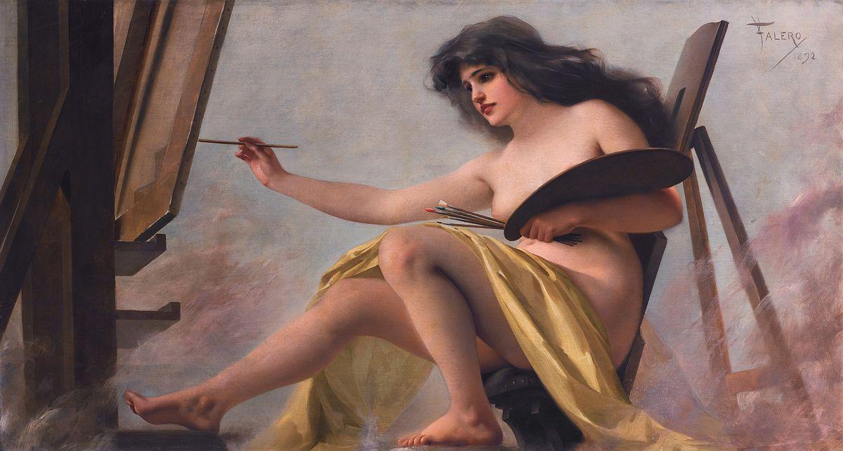 An allegory of art, by Luis Ricardo Falero.jpg