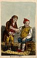 An ill man being bled by his doctor. Coloured etching after Wellcome V0011197ER.jpg