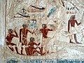 Ancient Egyptians on a small craft - mastaba of Nikauisesi, Saqqara.jpg