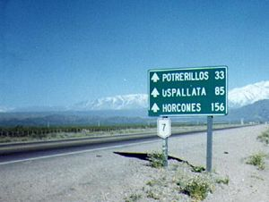 National Route 7 (Argentina) - Ruta Nacional 7 in Mendoza Province.