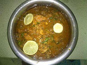 Andhra kodi kura (chicken gravy)