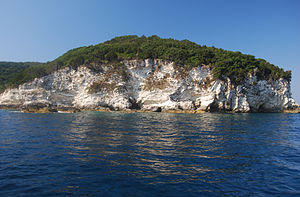 Antipaxos - Cliffs on the island